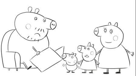 儿童简笔画教程 小猪佩奇