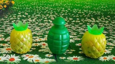 菠萝水果总动员里的水舞珠珠玩偶 培乐多水晶黏土相关的图片