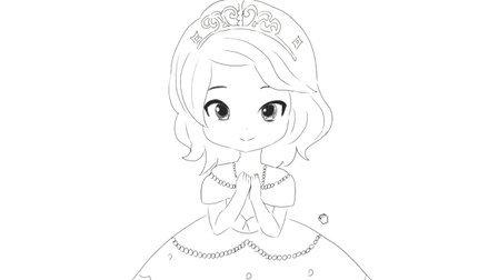 [小林简笔画]绘画小公主苏菲亚简笔画国语版 蝴蝶公主
