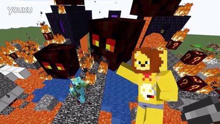 我的世界幸运方块 超人本VS蜘蛛侠VS美国队长 Minecraft服务器实图片