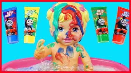娃娃洗澡过家家亲子游戏 12图片