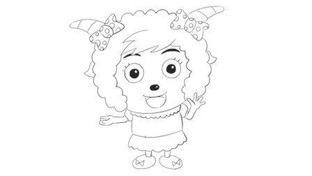 [小林简笔画]绘画儿童亲子早教动画片《喜羊羊与灰太