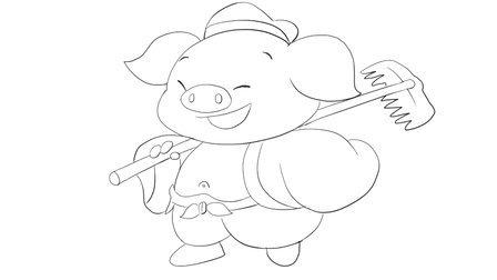 《西游记》中可爱q版动漫猪八戒卡通简笔画教程视频