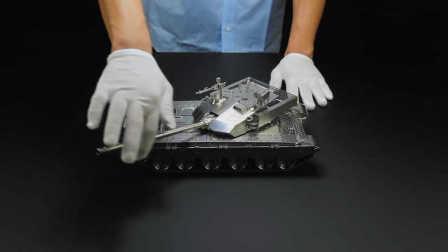 精美绝伦!全不锈钢99式坦克模型制造过程