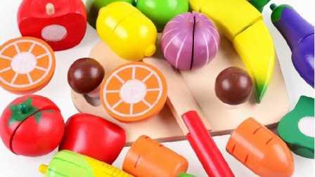 水果切切看亲子游戏之托马斯小火车和大头儿子小头爸爸一起水果蔬菜