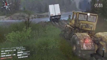 旋轉輪胎MODS丨巨型卡車 18輪大卡車 新地圖 新車輛 越野實況