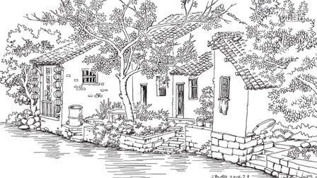 汤向钢笔画 风景速写入门教程 第一季 树桩