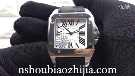 手表之家 CARTIER卡地亚桑托斯系列W20073X8男士机械腕表 V6大号山度士