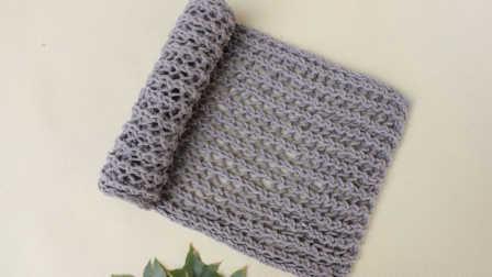 围巾的织法 手工编织围巾视频花样方法教程