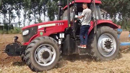 东方红1504配套鲁耕440玉米茬地,无人驾驶作业