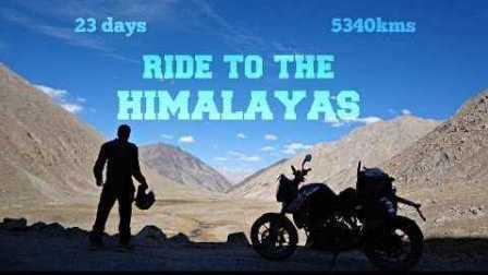 牛人骑摩托车花费22天穿越喜马拉雅