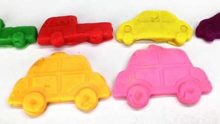 彩泥手工制作五颜六色的小汽车 18