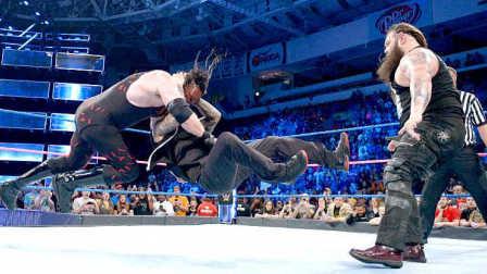【中文解说】WWE毒蛇要转反?兰迪奥尔顿RKO暴扣凯恩、帮助布雷怀亚特击败红色巨魔-SD摔角2016年10月26日