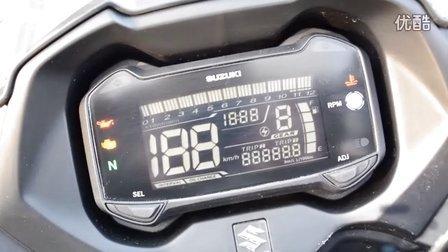 铃木GSX250R仪表启动展示