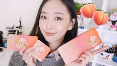 【Hello Catie】Too Faced蜜桃全系列�色+�y容分享 Sweet Peach Collection Swatches & Demo