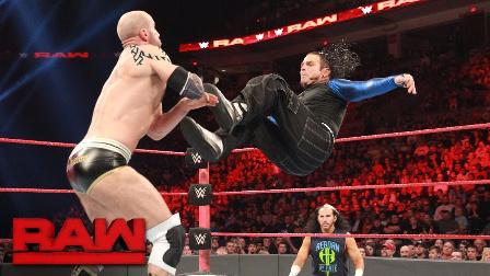 【RAW 04/17】杰夫-哈迪命运之轮+圆月弯刀拿下瑞士超人