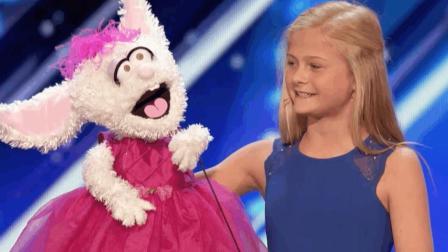 12岁小女孩用腹语唱歌, 逆天歌声惊呆评委