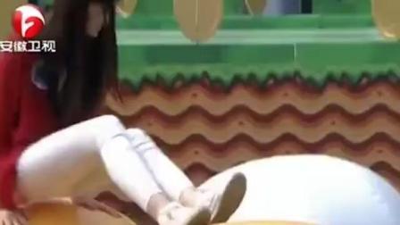 白色紧身裤学生妹 长相甜美 但是不适合来闯关