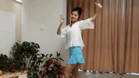 独舞广场舞视频大全: 短裙小美女自拍热舞, 看的