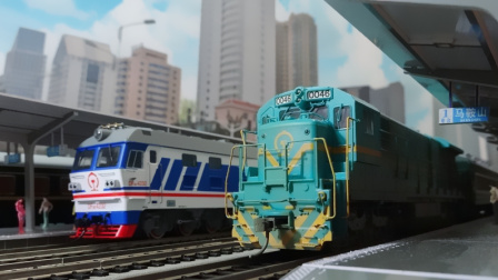 我的火车模型——L217次列车停靠马鞍山站