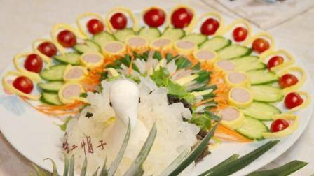 蔬菜制作的孔雀开屏!视频