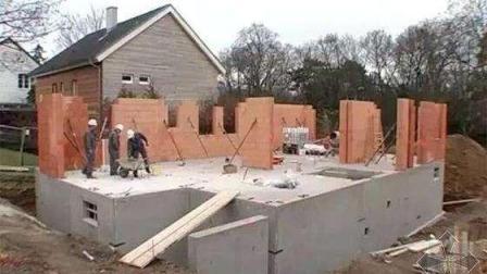 德國人紅磚房修建全過程, 看完感覺建筑白學了