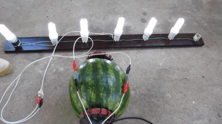 夏天西瓜吃不完, 做个发电机, 一点不浪费还省电费钱!