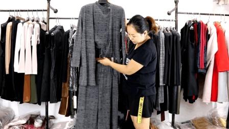衣源购281期秋季两件套三件套套裤套裙杭州中高档女装批发套装尾货库存