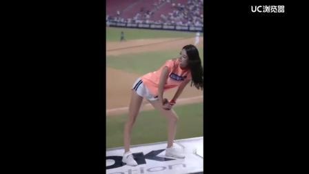 韩国的啦啦队短裙热舞, 身材和颜值真心太棒了