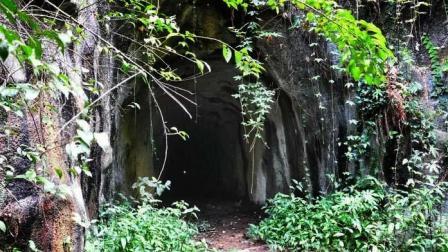 徒步穿越廣州花都王子山上的山洞秘道, 美女在身邊才有膽量進去