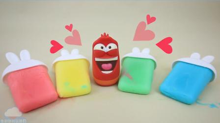自制食玩DIY如何制作兔形冰淇淋做法 制作爆笑虫子 动漫玩具动画 俊和他的玩具们