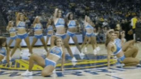 勇士队的啦啦队集体热舞, 这么高的颜值下赛季指