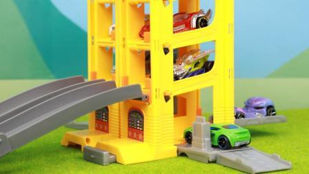 风火轮赛车车库发射器四合一玩具套装分享