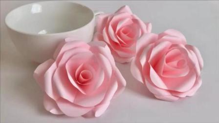假得跟真的一樣玫瑰花折紙, 真是一個心靈手巧的妹紙, 收藏了