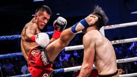 中国勇士开场4秒只出一腿就KO了对手, 这表情太嘚