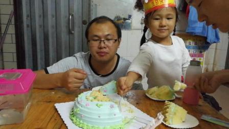 中国吃播云哥吃货 萌宝生日吃蛋糕搞笑视频