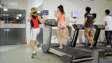 《屌丝男士》大鹏健身房与美女跑步,无实物表