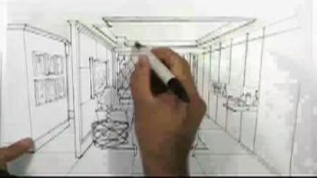手繪 室內設計手繪教程視頻