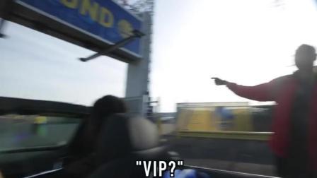 搞笑! 美国网友扮演汤神直接免费VIP停车!