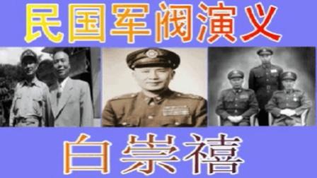 孙一评书民国军阀演义之白崇禧(上)