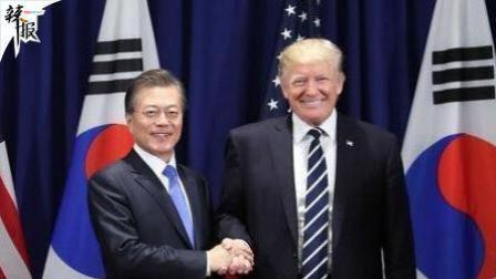 川普秒变脸与韩总统合影趣事不断