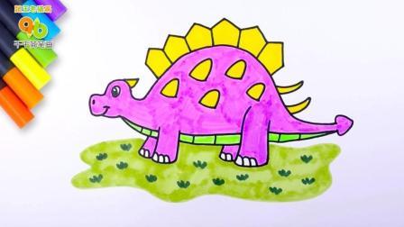 [亲子]恐龙简笔画: 白垩纪坦克甲龙, 6500万年前有哪些动物图片