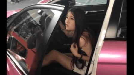 美女车模, 而且颜值太美, 旁边的豪车都黯然失色