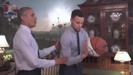 搞笑奥巴马要纠正库里的投篮姿势, 还教库里如何