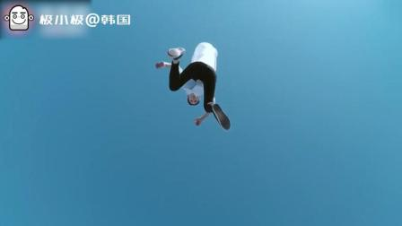 卫生巾广告也可以拍的这么酷炫, 韩国美女帅气跑