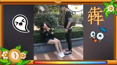 搞笑视频: 美女和小伙子一块玩游戏, 小伙最后发