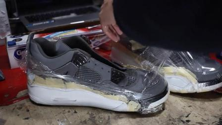 运动鞋原来这样翻新的, 穿到脚上就不怕传染上脚气吗?