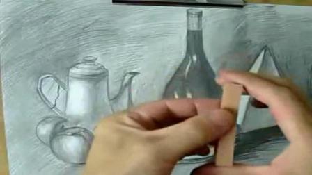 场景速写风景照片素材 初学简单素描画 画古装美