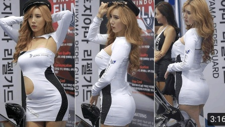 2017韩国首尔车展美女模特秀完美身材