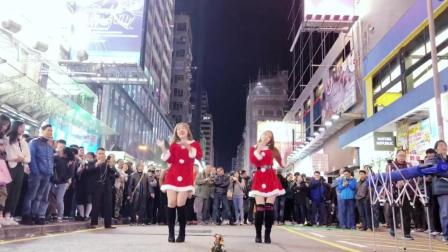 香港美女街头动感热舞 TWICE《HEART SHAKER》